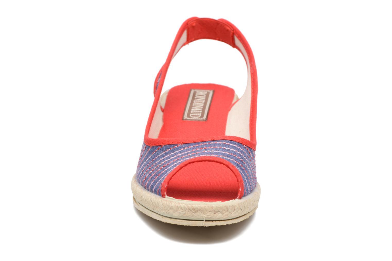 Espadrilles Rondinaud Lidoire Rouge vue portées chaussures