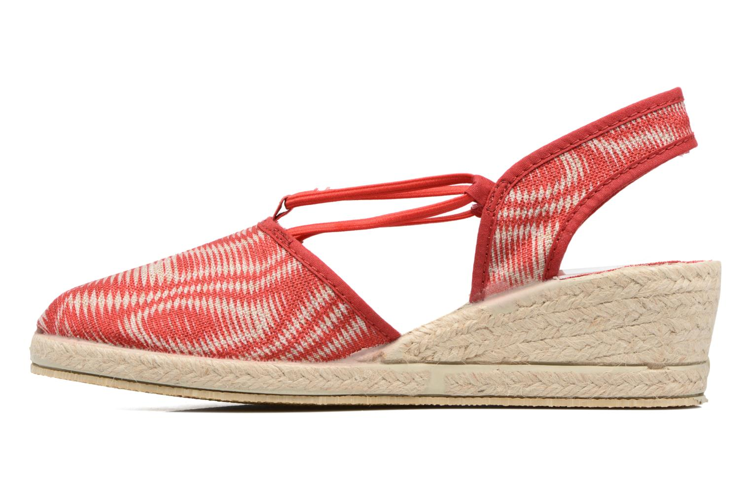 Espadrilles Rondinaud Sambre Red front view