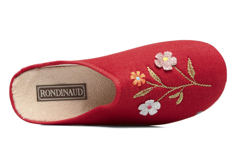 Pantuflas Rondinaud Semoy Rojo vista lateral izquierda