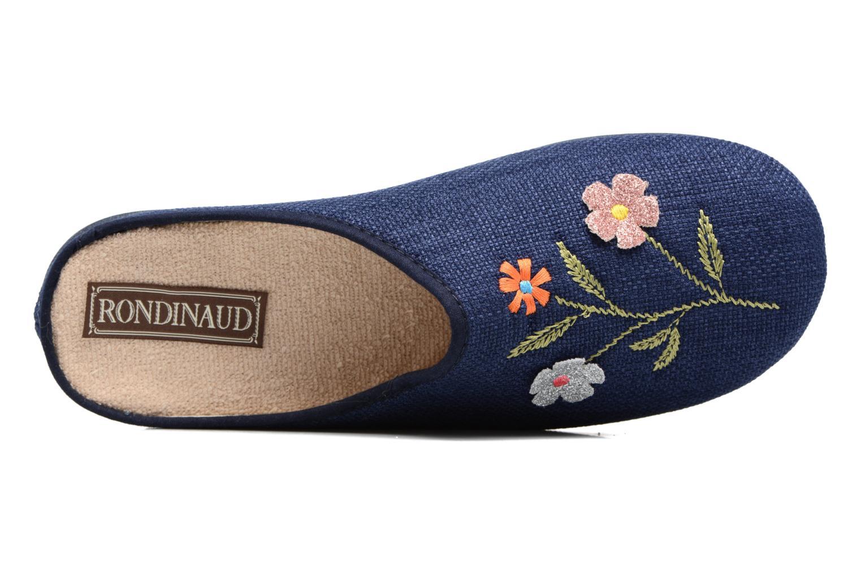 Pantuflas Rondinaud Semoy Azul vista lateral izquierda