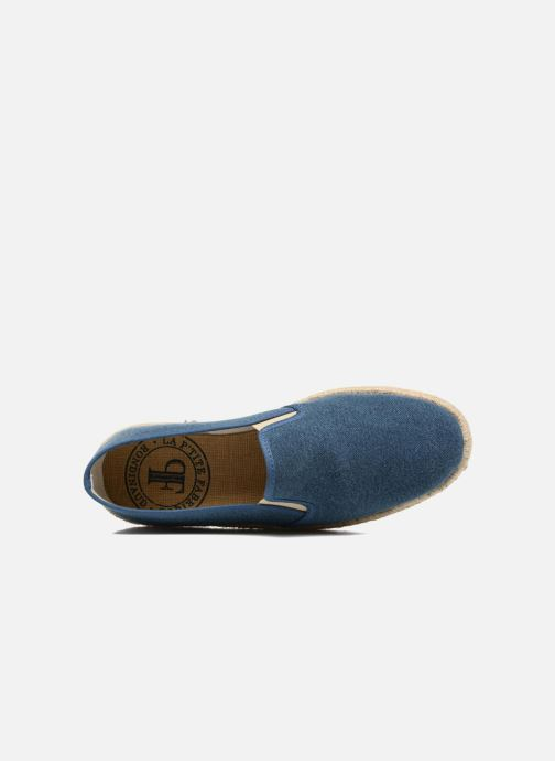 Espadrilles Rondinaud Loue Blue view from the left