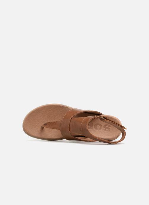 Sandalen Sorel Torpeda Ankle Strap Bruin links