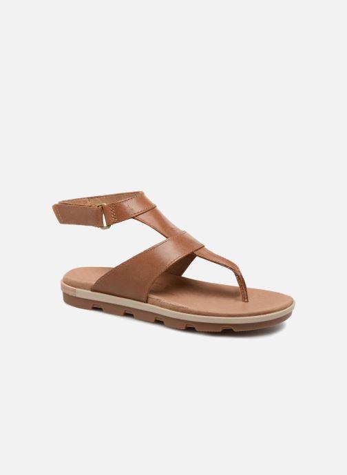 Sandalen Sorel Torpeda Ankle Strap Bruin detail