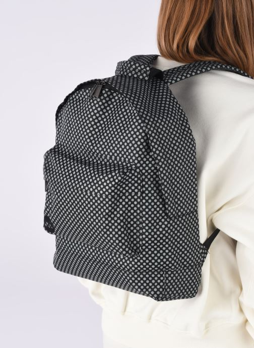 Rucksäcke Mi-Pac Custom Prints Microdots Backpack schwarz ansicht von unten / tasche getragen