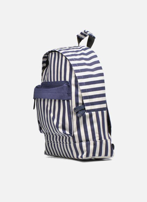 Sacs à dos Mi-Pac Premium Seaside Stripe Backpack Bleu vue portées chaussures