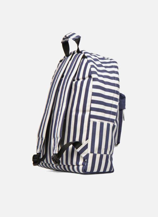 Mochilas Mi-Pac Premium Seaside Stripe Backpack Azul vista lateral derecha