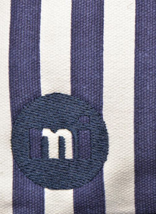 Mochilas Mi-Pac Premium Seaside Stripe Backpack Azul vista lateral izquierda