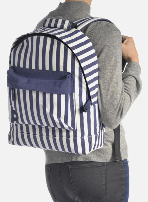 Sacs à dos Mi-Pac Premium Seaside Stripe Backpack Bleu vue bas / vue portée sac