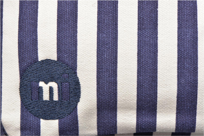 Rucksäcke Mi-Pac Premium Seaside Stripe Backpack blau ansicht von links