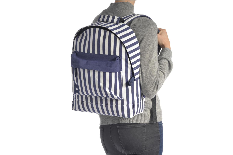 Rucksäcke Mi-Pac Premium Seaside Stripe Backpack blau ansicht von oben