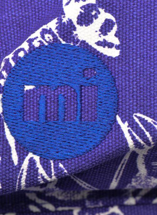Mochilas Mi-Pac Premium Print Azul vista lateral izquierda
