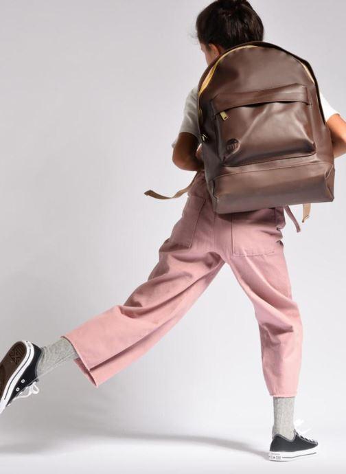 Sacs à dos Mi-Pac Gold Backpack Marron vue bas / vue portée sac