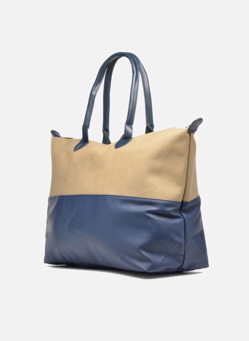 Reisegepäck Mi-Pac Weekender Bag blau schuhe getragen