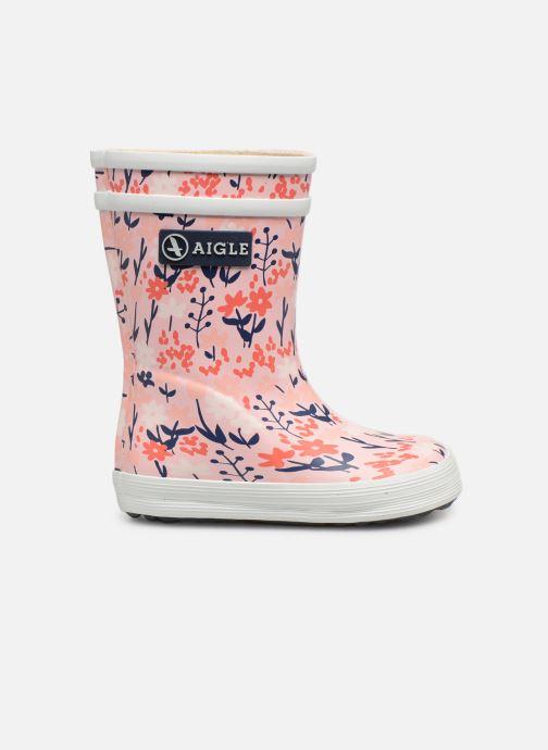 Støvler & gummistøvler Aigle Baby Flac Kid Pink se bagfra