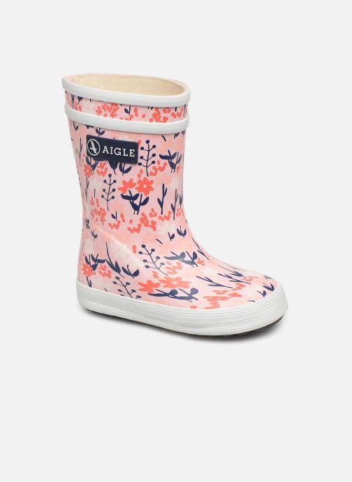 Støvler & gummistøvler Aigle Baby Flac Kid Pink detaljeret billede af skoene