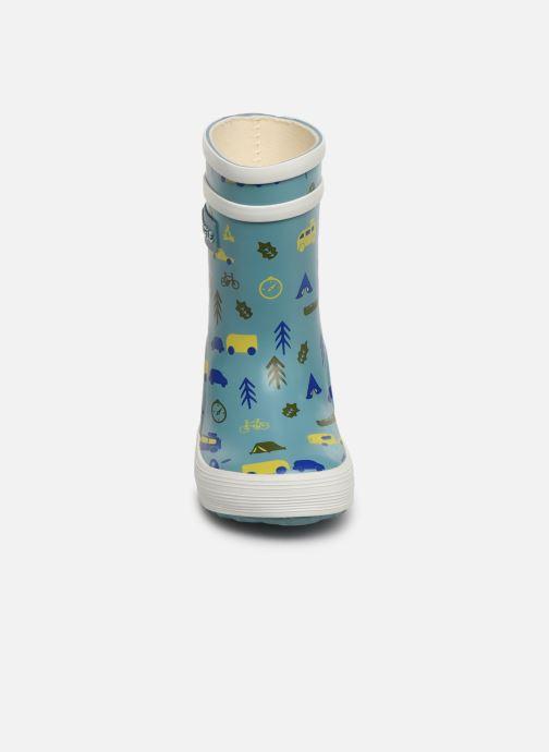 Bottes Aigle Baby Flac Kid Bleu vue portées chaussures