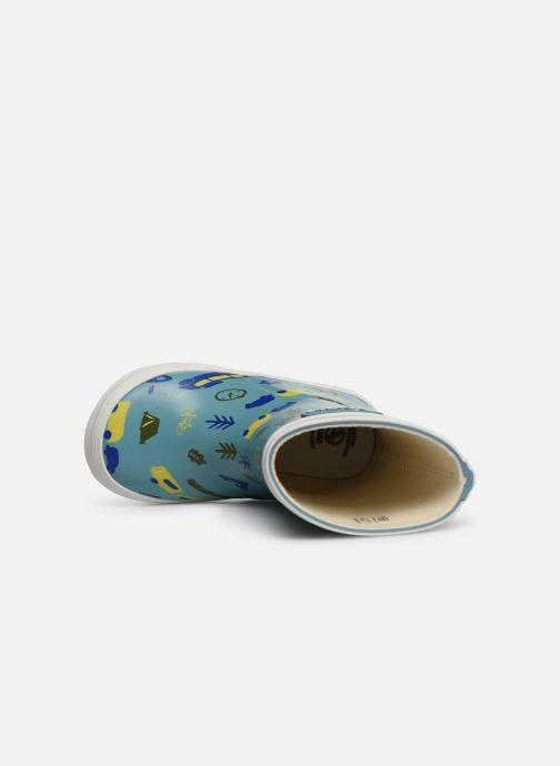 Stiefel Aigle Baby Flac Kid blau ansicht von links