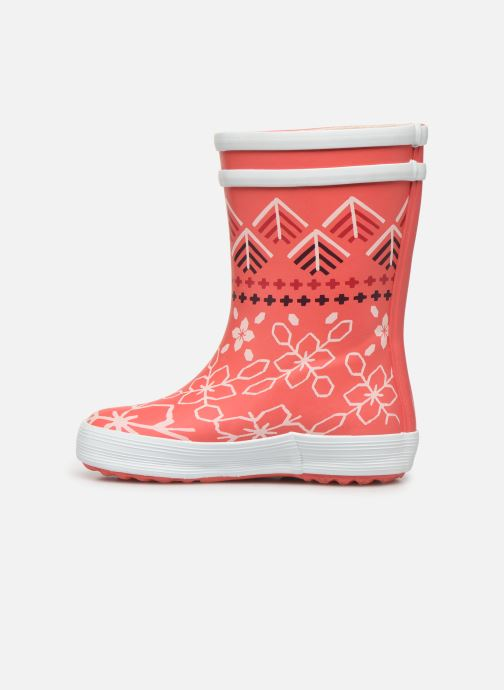Bottes Aigle Baby Flac Kid Rose vue face