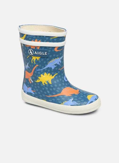 Bottes Aigle Baby Flac Kid Bleu vue détail/paire