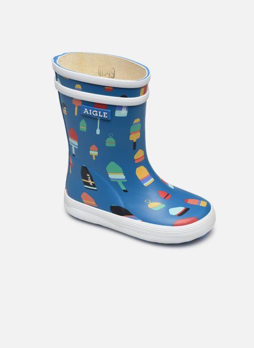 Støvler & gummistøvler Aigle Baby Flac Kid Blå detaljeret billede af skoene