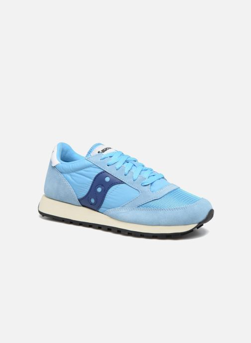 detailed look e7ab1 00c66 Baskets Saucony Jazz Original Vintage Bleu vue détail paire