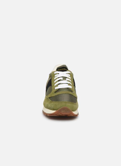 Baskets Saucony Jazz Original Vintage Vert vue portées chaussures