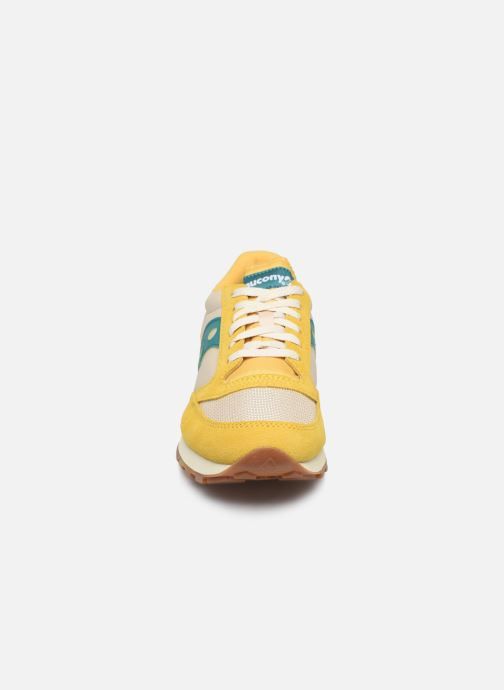 Sneaker Saucony Jazz Original Vintage gelb schuhe getragen