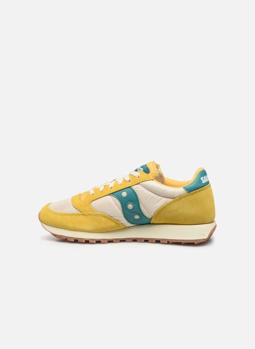 Sneaker Saucony Jazz Original Vintage gelb ansicht von vorne
