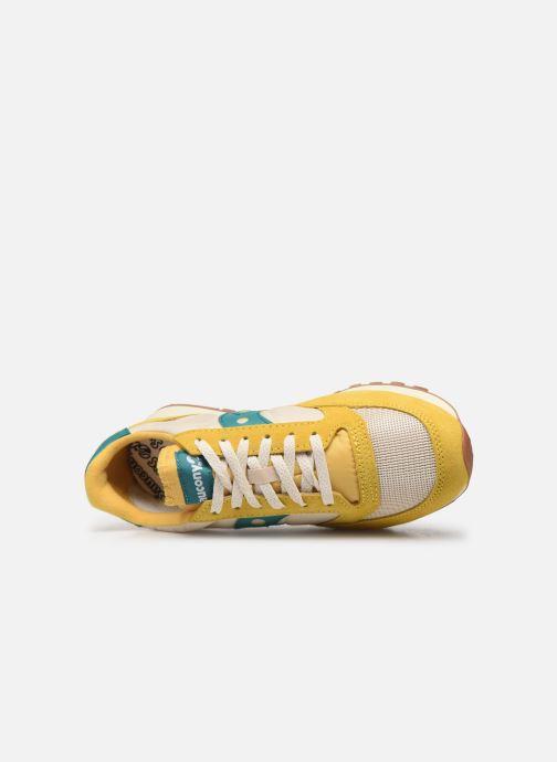 Sneaker Saucony Jazz Original Vintage gelb ansicht von links