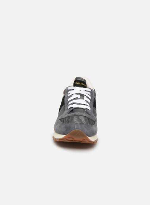 Baskets Saucony Jazz Original Vintage Gris vue portées chaussures