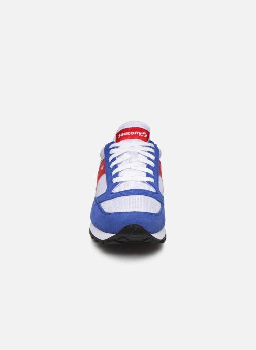 Baskets Saucony Jazz Original Vintage Blanc vue portées chaussures