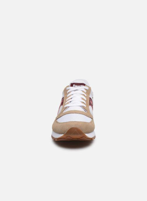 Baskets Saucony Jazz Original Vintage Beige vue portées chaussures