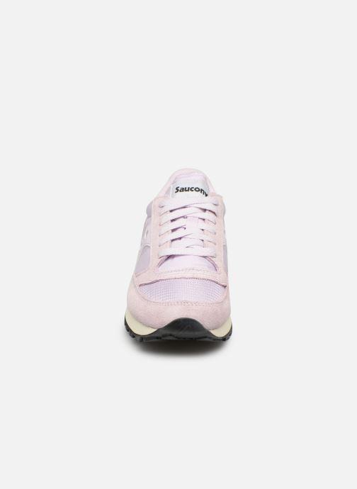 Baskets Saucony Jazz Original Vintage W Violet vue portées chaussures