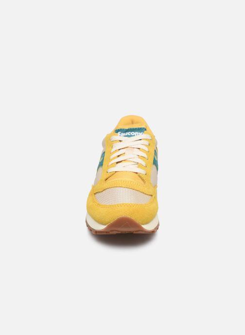 Baskets Saucony Jazz Original Vintage W Jaune vue portées chaussures