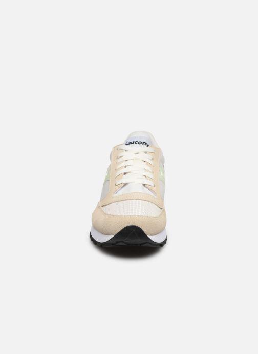 Sneakers Saucony Jazz Original Vintage W Bianco modello indossato