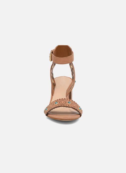Sandals Guess NADDA Brown model view