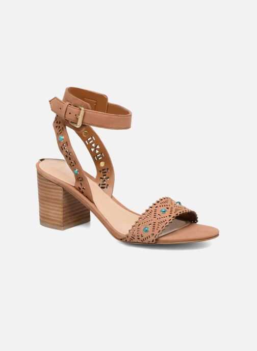 Sandals Guess NADDA Brown detailed view/ Pair view