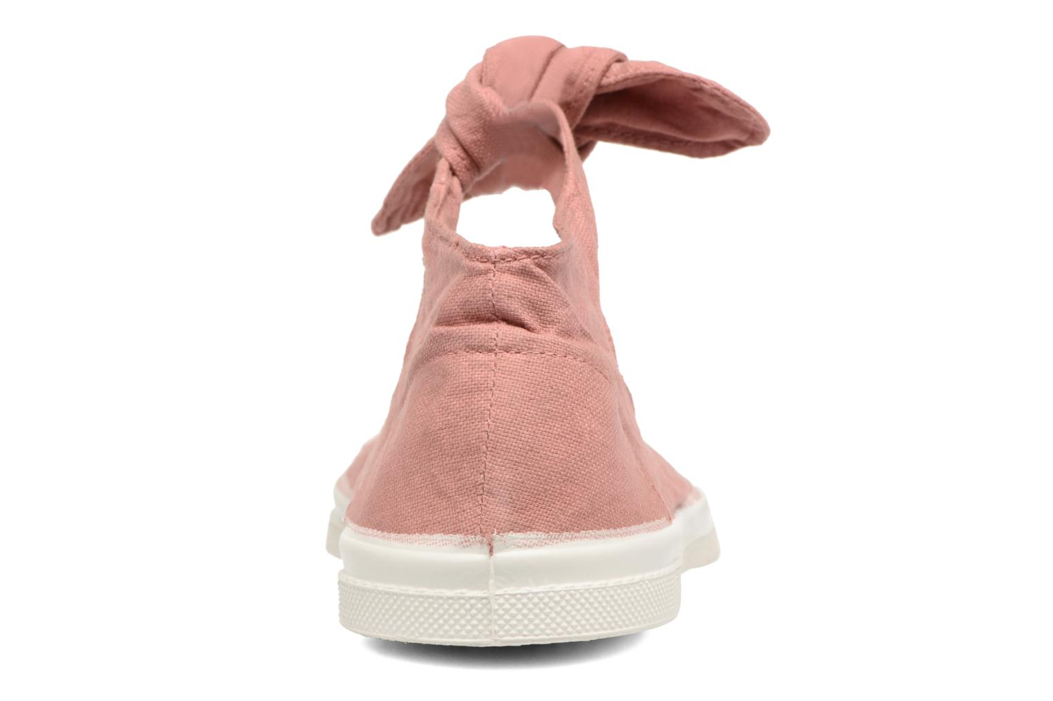 Ballet pumps Bensimon Tennis Flo Pink view from the right