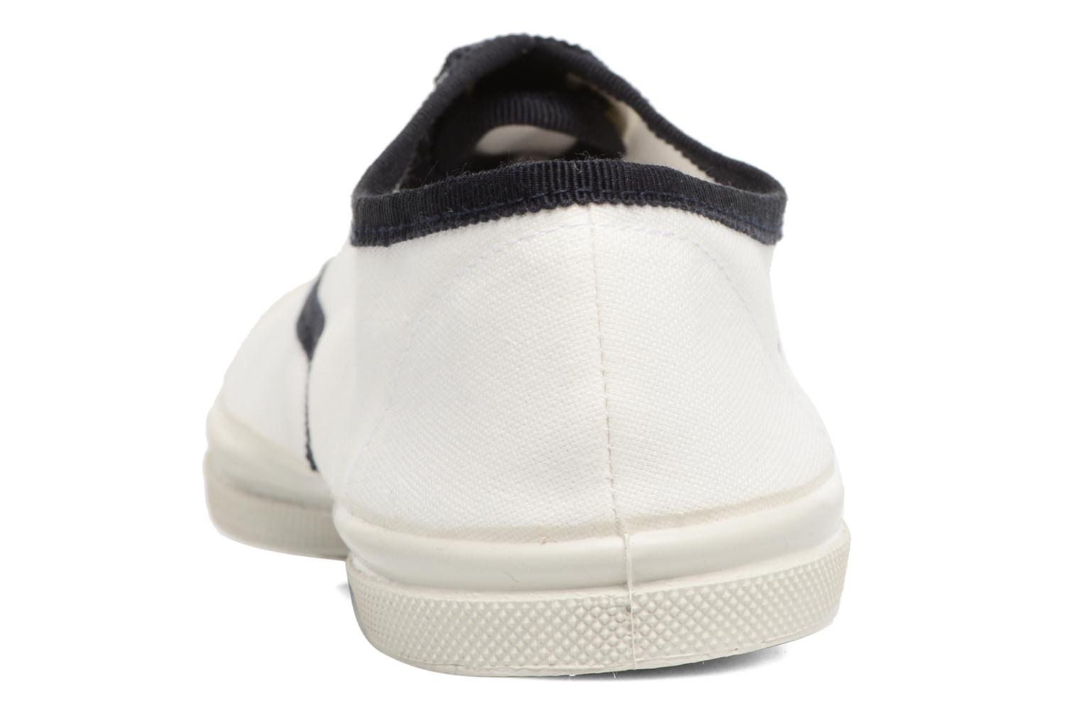 Trainers Bensimon Tennis Lacet Gros Grain White view from the right
