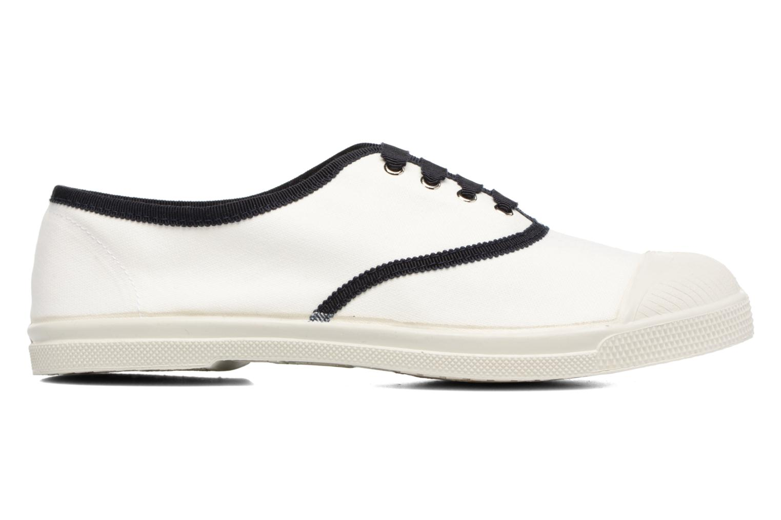 Trainers Bensimon Tennis Lacet Gros Grain White back view