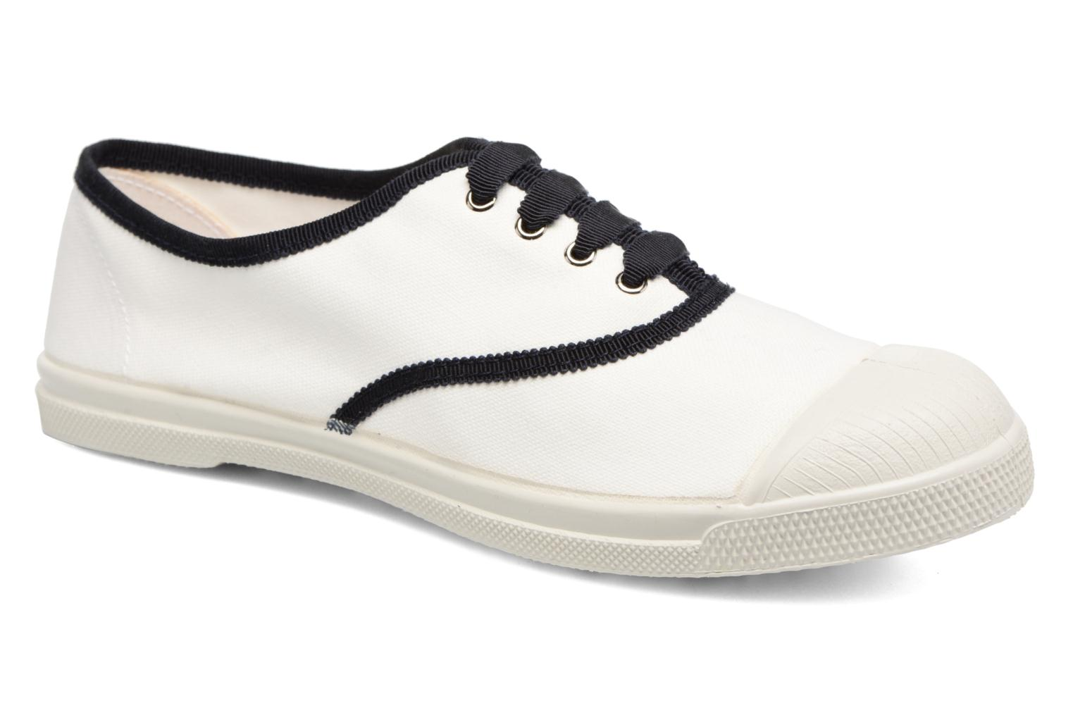 Trainers Bensimon Tennis Lacet Gros Grain White detailed view/ Pair view