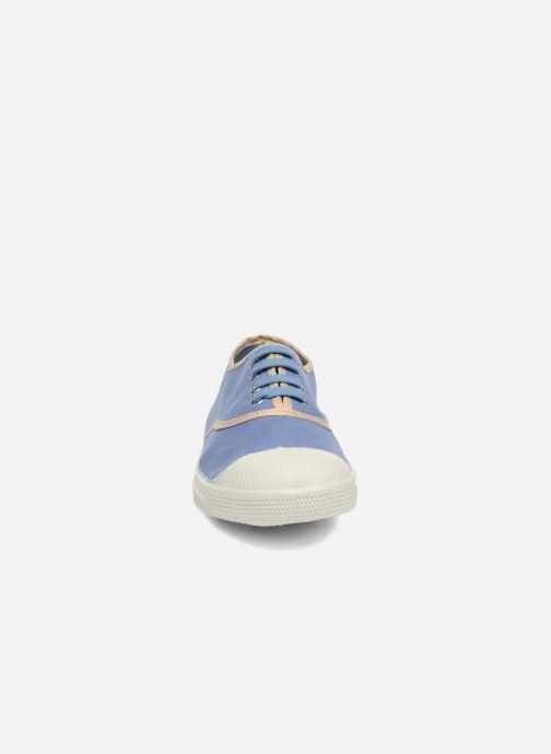 Sneaker Bensimon Tennis Shinypiping blau schuhe getragen