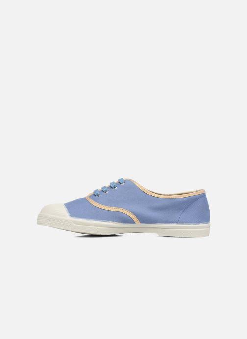 Sneaker Bensimon Tennis Shinypiping blau ansicht von vorne