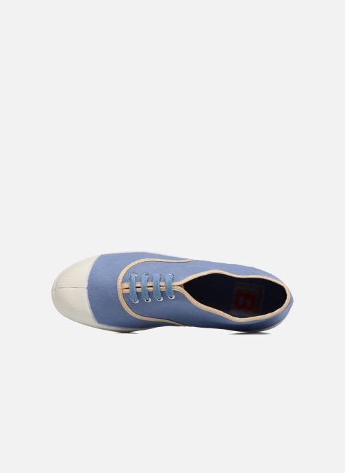 Sneaker Bensimon Tennis Shinypiping blau ansicht von links