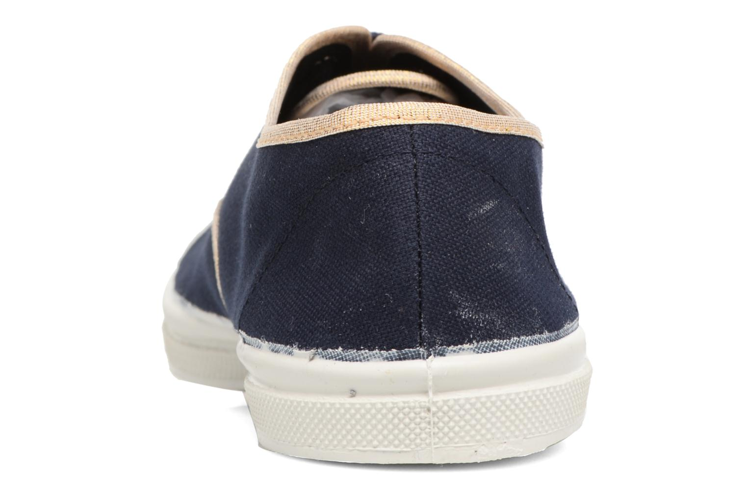 Trainers Bensimon Tennis Shinypiping Blue view from the right