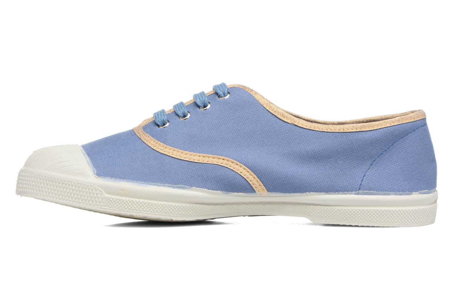 Trainers Bensimon Tennis Shinypiping Blue front view