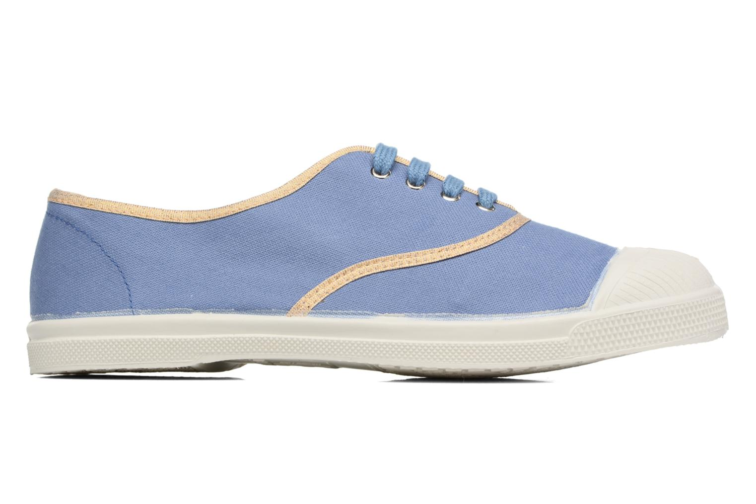 Trainers Bensimon Tennis Shinypiping Blue back view