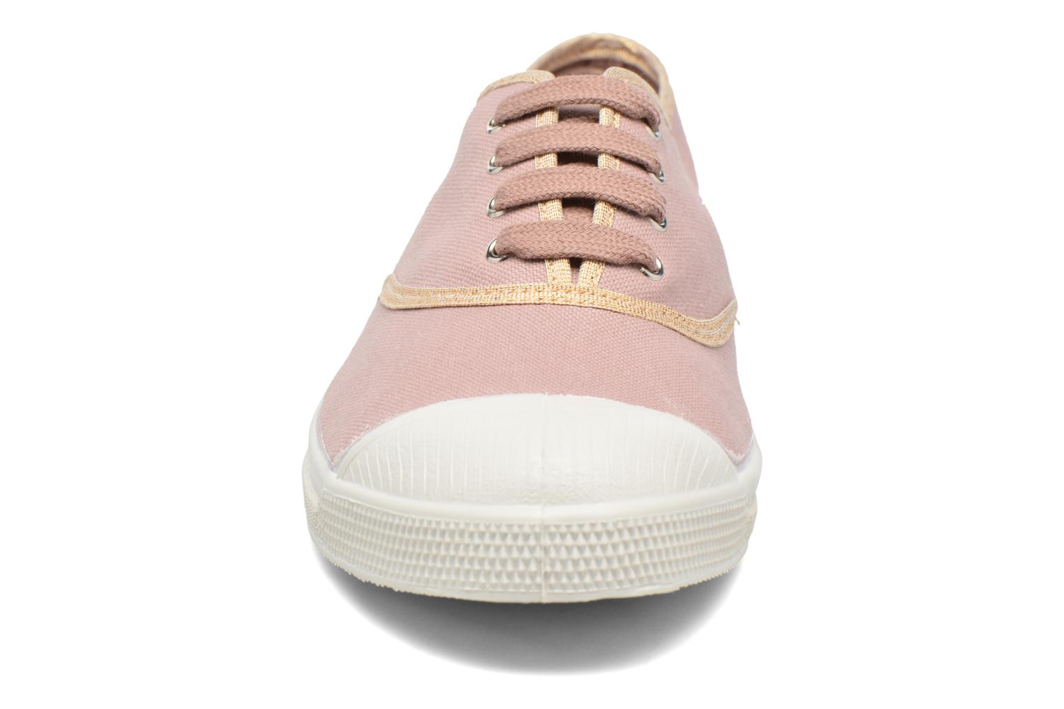 Baskets Bensimon Tennis Shinypiping Rose vue portées chaussures