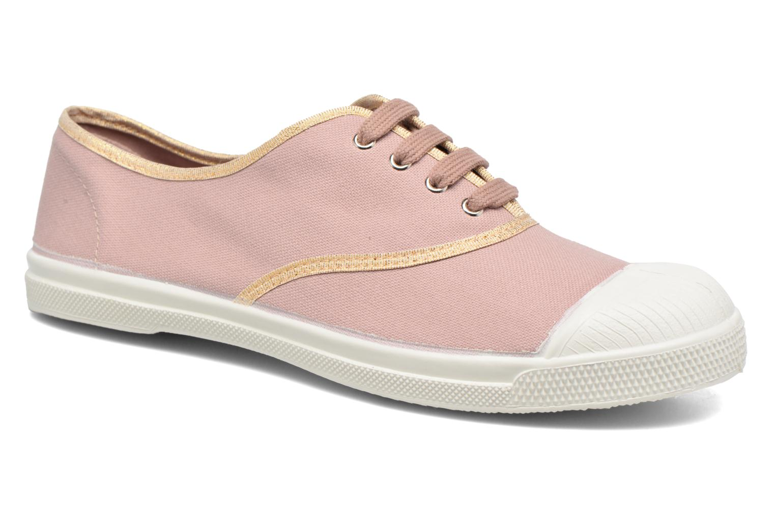 Trainers Bensimon Tennis Shinypiping Pink detailed view/ Pair view