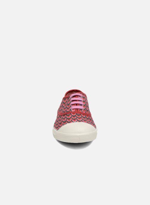 Sneakers Bensimon Tennis Retro Triangle Rosa modello indossato